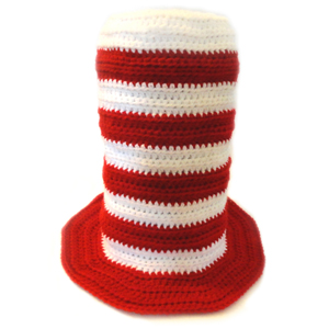 crochet striped top hat