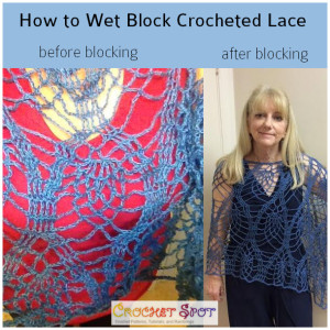 How to Wet Block Crocheted Lace a Free Tutorial by Caissa McClinton @artlikebread 1