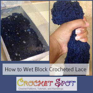 How to Wet Block Crocheted Lace a Free Tutorial by Caissa McClinton @artlikebread 3