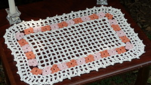Rectangle Flower Garden Doily