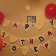 This birthday banner by Susanne looks awesome.