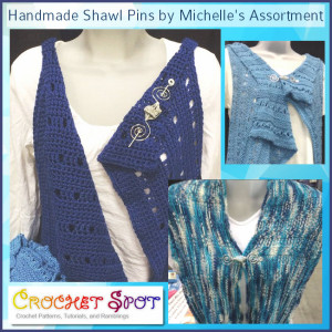 Handmade Shawl Pins by Michelle's Assortment @artlikebread Caissa McClinton Crochet 1
