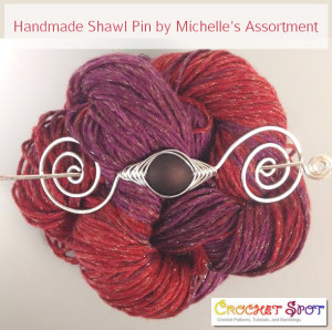 Handmade Shawl Pins by Michelle's Assortment @artlikebread Caissa McClinton Crochet 2