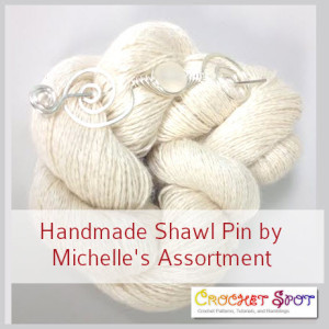 Handmade Shawl Pins by Michelle's Assortment @artlikebread Caissa McClinton Crochet 3