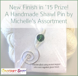 Handmade Shawl Pins by Michelle's Assortment @artlikebread Caissa McClinton Crochet 4