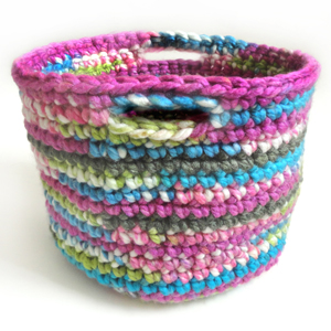 crochet quick storage basket
