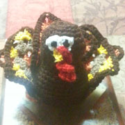 Angel completed her Timothy the turkey.
