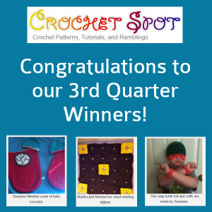 Caissa McClinton @artlikebread Crochet Spot Finish in 15 Contest Giveaway Winners