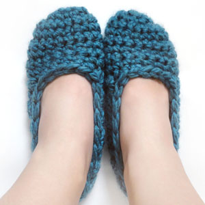 crochet super quick slippers