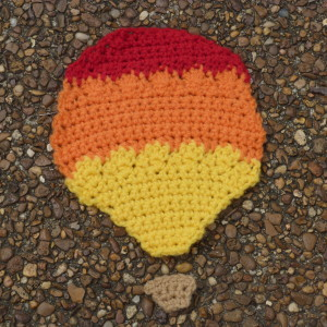 Fiery Hot Air Balloon Applique