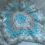 Susanne is working on this star blanket.
