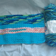 This is going to be a car seat cover by Susanne.