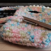 Darlene crocheted this cell phone holder.