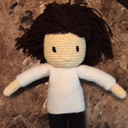 Teisha's doll is completed.  Now time to crochet more clothes.