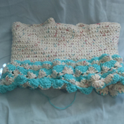 Susanne is working on another crocheted dress.