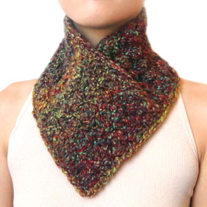 crochet easy slip on neck warmer