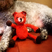 Debbie finished crochet this cute fox toy.