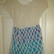 Susanne made this dress inspired by Frozen the movie.
