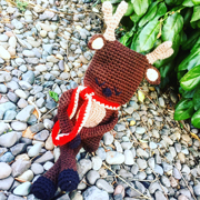 Debbie finished crocheting this adorable reindeer.