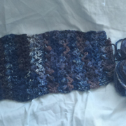 This is a scarf in progress by Susanne.