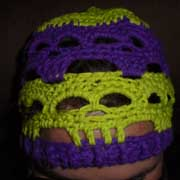 Daelynn crocheted this neat skull stitch beanie.