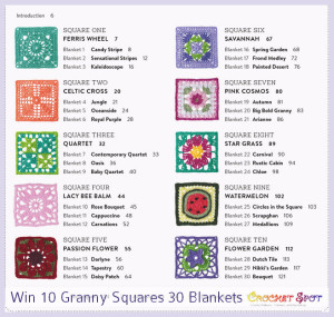 10 Granny Squares 30 Blankets Book Review & Giveaway Crochet Spot 2