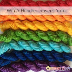 Win A Hundred Ravens Iachos Mini Set in Rainbow on @crochetspot by Caissa McClinton @artlikebread 2