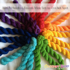 Win A Hundred Ravens Iachos Mini Set in Rainbow on @crochetspot by Caissa McClinton @artlikebread