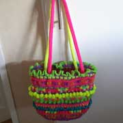 Rachel made this fun colorful, textured purse.
