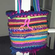 Here's another colorful bag that Rachel finished.