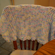 Here is another baby blanket that Sandy crocheted.