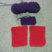 These squares are a blanket in progress by Patricia.