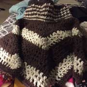 Debbie finished this project when a nice chevron pattern.
