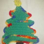Susanne finished this nifty Christmas tree potholder.