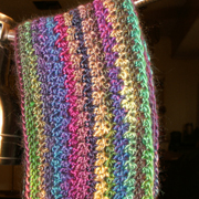 This color cowl is crocheted by Sandy.