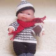 Barbara crocheted this super cute doll outfit.