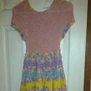 Susanne finished crocheting this dress.