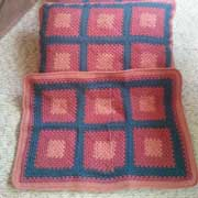 Patricia crocheted these shams to go with an afghan.