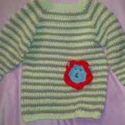 Susanne made this striped sweater for her grandson.