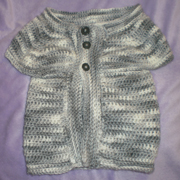 Susanne finished this sweater vest for her grandson.