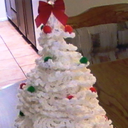 Mary crocheted this lovely decorative tree.