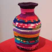Take a look at this interesting crochet vase made by Rachel.