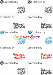 1 Merry Christmas & Happy Holidays Crocheted by Free Downloadable Labels by Caissa McClinton @artlikebread for @crochetspot