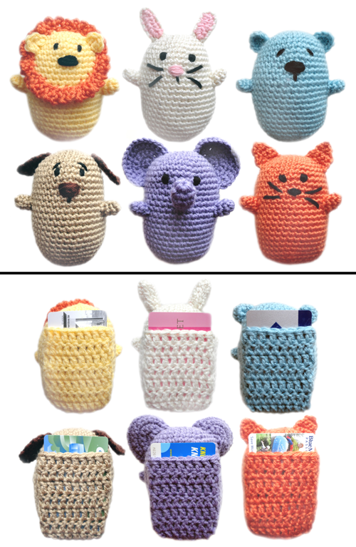 Crochet Patterns Gifts : ... Crochet Pattern: Animal Gift Card Holders - Crochet Patterns