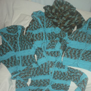 Susanne made all of these matching cardigans.