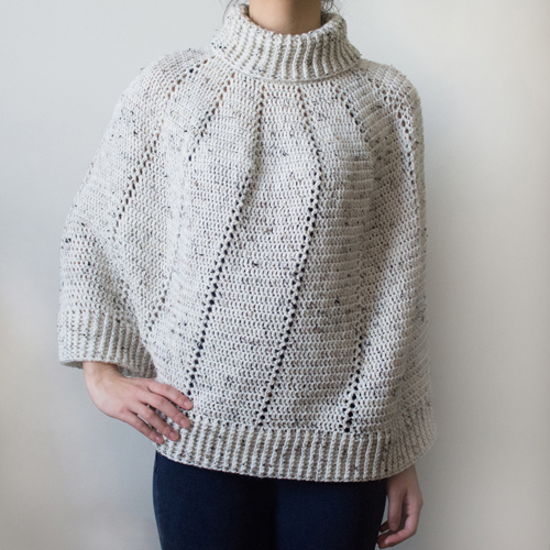 Crocheting Ponchos : ... Crochet Pattern: Vertical Eyelet Poncho (9 Sizes) - Crochet Patterns