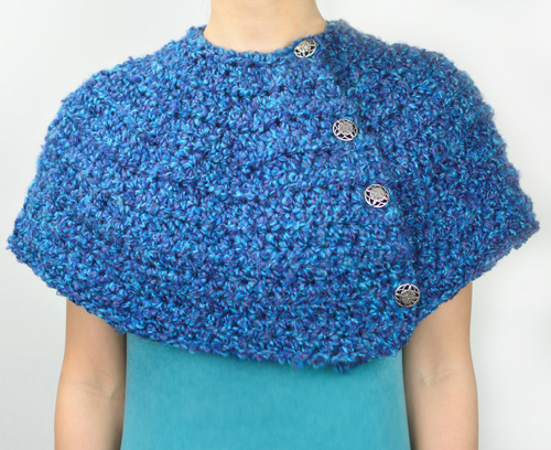 crochet warm winter capelet