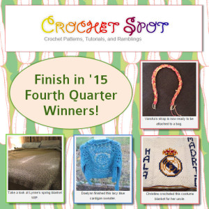 Finish in 15 Fourth Quarter Winners on @crochetspot by Caissa McClinton @artlikebread