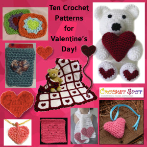 Ten 10 Crochet Patterns for Valentine's Day on @crochetspot @artlikebread