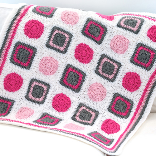 Crochet Patterns For Blankets Square Patterns : Crochet Spot Blog Archive Crochet Pattern: Circles and ...